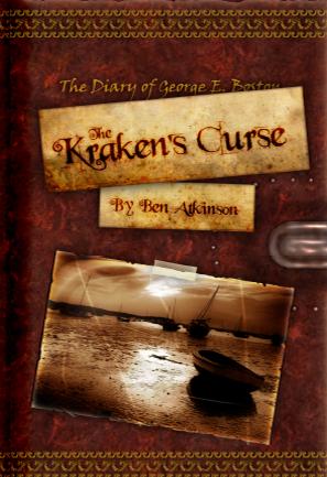 A book cover for Ben's novel, The Kraken's Curse.