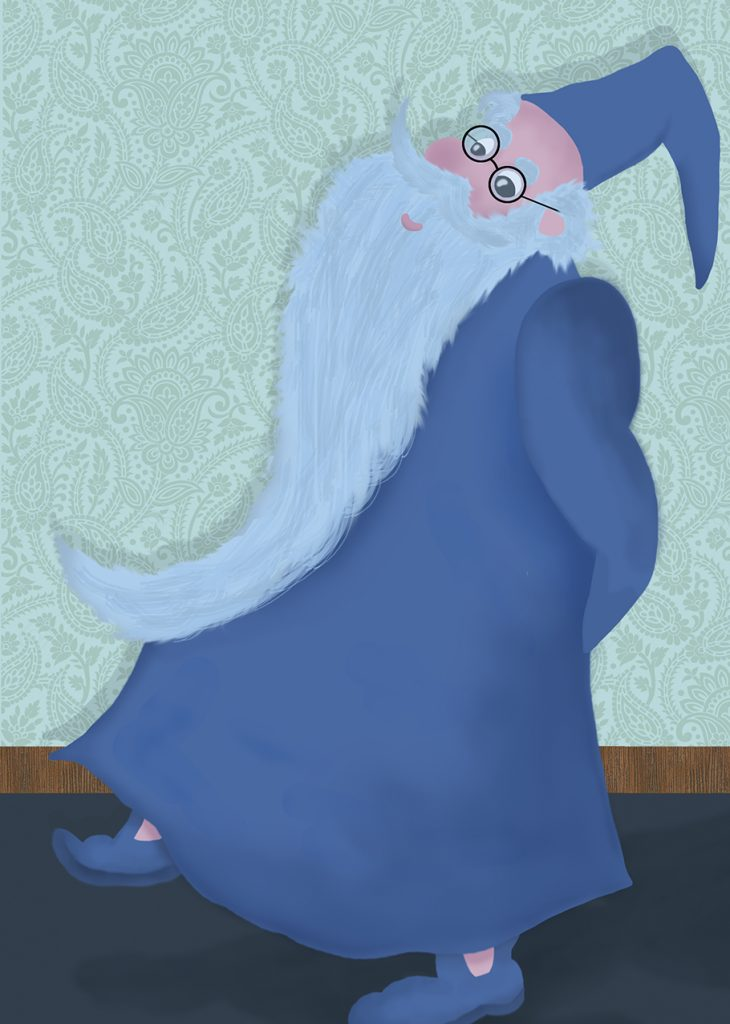 An illustration of Merlin, from Disney's The Sword in the Stone.