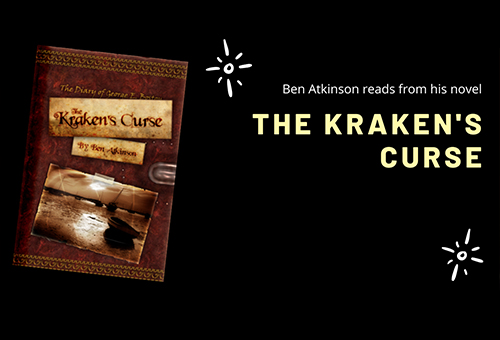 A slide showing The Kraken's Curse cover, and promoting online reading.