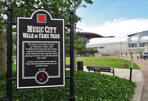 An image of the Music City Walk of Fame in Nashville, Tennessee.