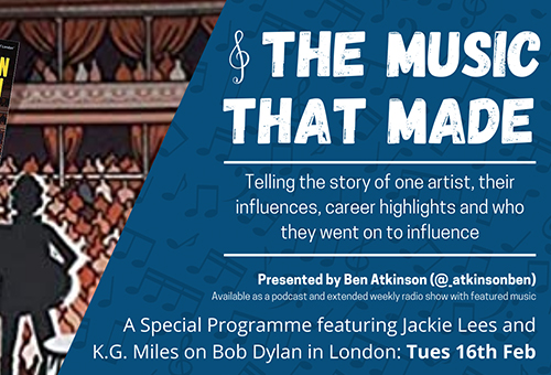 Image introducing The Music That Made, a new podcast hosted by Ben Atkinson.